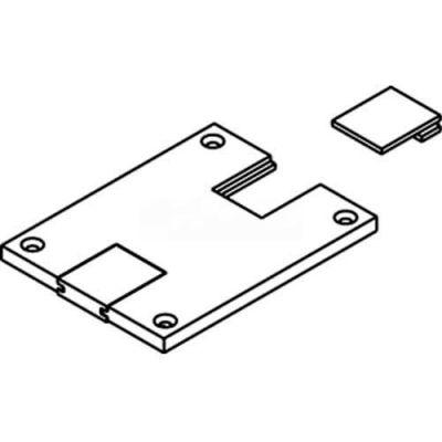 Wiremold 829pstc-Blk Floor Box Communication Cover, Black, Slides - Pkg Qty 10