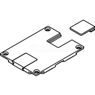 Wiremold 829stc Floor Box Communication Cover Reversible Slides, Brass - Pkg Qty 10