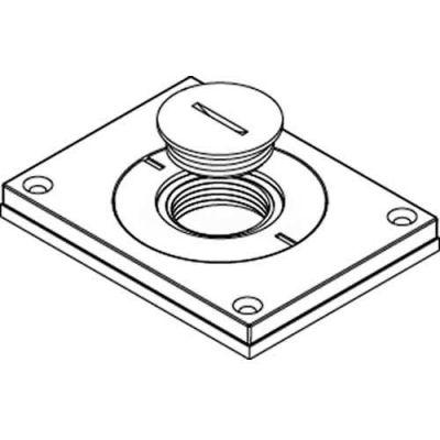 "Wiremold 830cktcal-1 Floor Bx Cvr. For Power Or Comm, Brushed Alum., 2"" & 1"" Plugs - Pkg Qty 10"