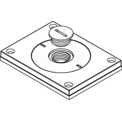"Wiremold 830cktcal-1/2 Floor Bx Cvr. For Power Or Comm, Brushed Alum., 2"" & 1/2"" Plugs - Pkg Qty 10"