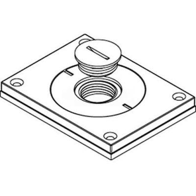 "Wiremold 830cktcal-3/4 Floor Bx Cvr. For Power Or Comm, Brushed Alum., 2"" & 3/4"" Plugs - Pkg Qty 10"