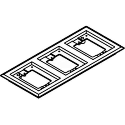 Wiremold 837pcc-Brn Floor Box 3-Gang Carpet Flange, Brown - Pkg Qty 5