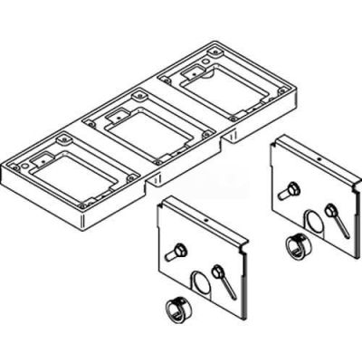 Wiremold 838TAL-880CS3 Floor Box 838T Kit, Flange W/Support Partitions for 880CS3 Box