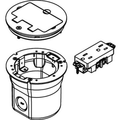 Wiremold 862TGFI Floor Box W/895TGFI Tile, Brass Cover
