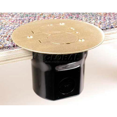 Wiremold 862TSP Floor Box W/895TSP Tile, Brass Cover