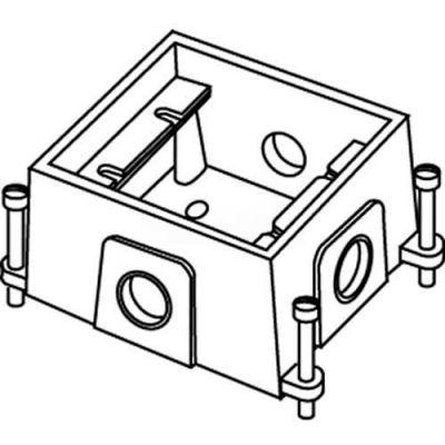 Wiremold 880CM1-1 Floor Box 1-Gang Shallow Box, Fully Adjustable