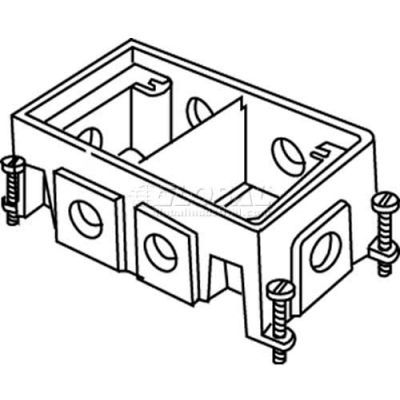 Wiremold 880CM2-1 Floor Box 2-Gang Shallow Box, Fully Adjustable