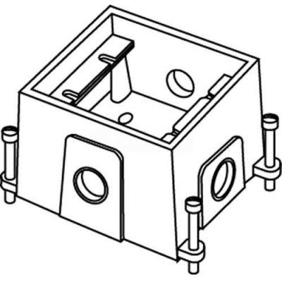 Wiremold 880CS1-1 Floor Box 1-Gang Deep Box, Fully Adjustable