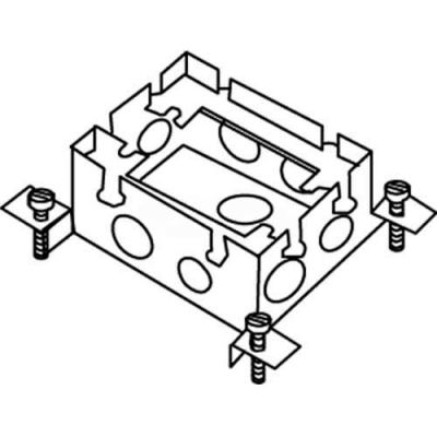 Wiremold 880M1 Floor Box 1-Gang Shallow Box, Fully Adjustable