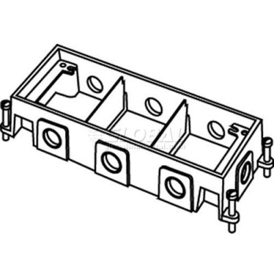 Wiremold 880M3 Floor Box 3-Gang Shallow Box, Fully Adjustable