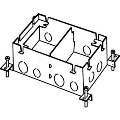 Wiremold 880S2 Floor Box 2-Gang Deep Box, Fully Adjustable