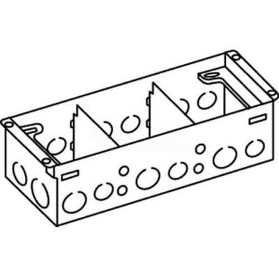 Wiremold 880W3 Floor Box 3-Gang Steel Box, For Wood Floors