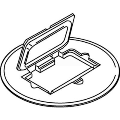 Wiremold 895gfical Floor Box Receptical Cover Plate, Gfi, Round, Aluminum - Pkg Qty 8