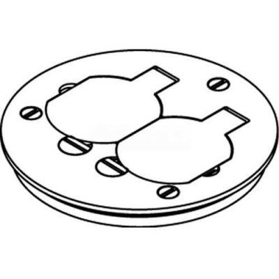 Wiremold 895t Floor Box Cover Plate, Brass, W/Duplex Flip Lids, For Tile - Pkg Qty 8