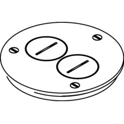 Wiremold 895tsp Floor Box Cover Plate, Brass, W/Screw Plug Openings, For Tile - Pkg Qty 8
