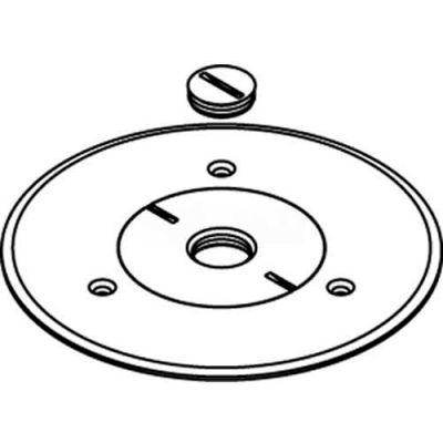 """Wiremold 896ck-3/4 Floor Box Cover Plate, Brass, For Carpet W/3/4"""" Opening - Pkg Qty 8"""
