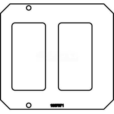 Wiremold 8CREST Poke-Thru 2-Gang Crestron Plate