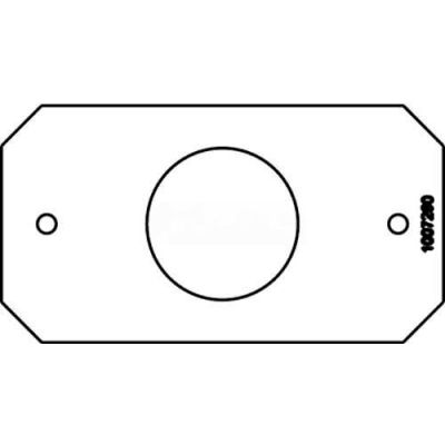 """Wiremold 8S1 Poke-Thru 1-Gang Device Plate, Single Receptacle, 1.4"""" Opening"""