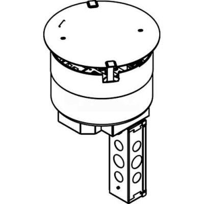 "Wiremold 8STC Poke-Thru Stem Assembly, Recessed, 8"""