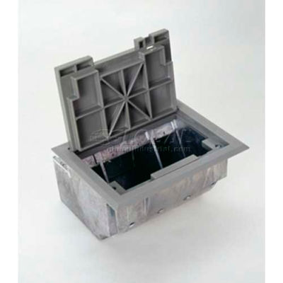 Wiremold AF1-YT Floor Box Box W/Gray Tile Cover & Trim