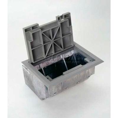 Wiremold AF3-YC Floor Box Box W/Gray Carpet Cover & Trim