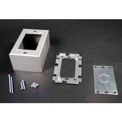 "Wiremold AL2044 Deep Switch & Receptacle Box, 1-Gang, 120V, 15A, 4-5/8""L"