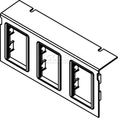 Wiremold C10105p-3act Floor Box Ac10105 Plate W/(3) 6a Mini Adapter Bezels - Pkg Qty 10