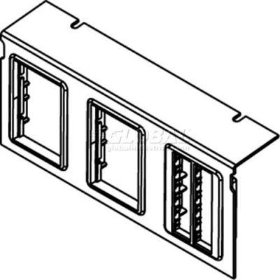 Wiremold C10105p-3rt Floor Box Ac10105 Plate W/(3) Ortonics Lt Gray Bezels - Pkg Qty 10