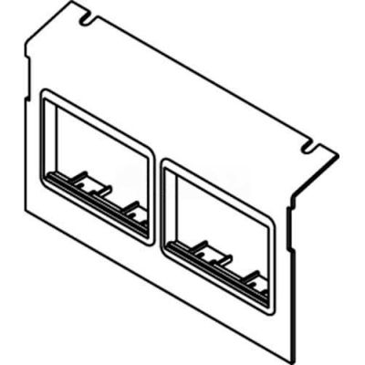 Wiremold C8004p-2act Floor Box Ac8104 & Ac8840 Plate W/(2) 6a Mini Adapter Bezels - Pkg Qty 10