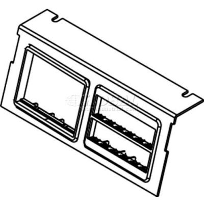 Wiremold C8004p-2rt Floor Box Ac8104 & Ac8840 Plate For (2) Ortronics Bezels - Pkg Qty 10