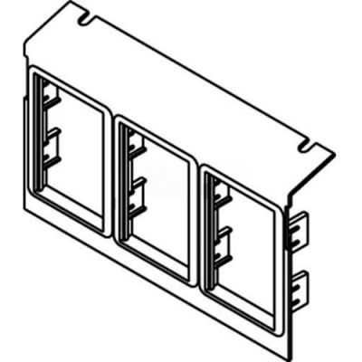 Wiremold C8005p-3act Floor Box Ac8105 & Ac8850 Plate (3)6a Mini Adapter Bezels - Pkg Qty 10