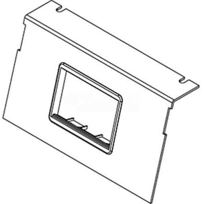 Wiremold C8850p-2act Floor Box Ac8850 Plate W/(2) 6a Mini Adapter Bezels - Pkg Qty 10