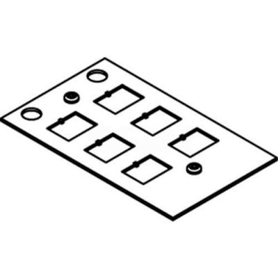 Wiremold Crfb-6com-4 Floor Box Crfb Series 6 Port Communication Plate - Pkg Qty 10
