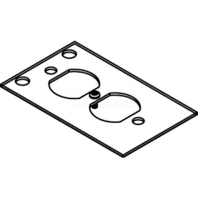 Wiremold Crfb-D-4 Floor Box Crfb Series Device Plate #4 - Pkg Qty 10