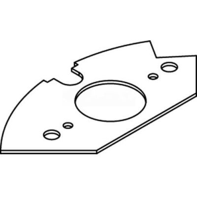 Wiremold Crfb-Sr1-3 Floor Box Single Receptacle Device Plate, For Round Raised Floor Box - Pkg Qty 10