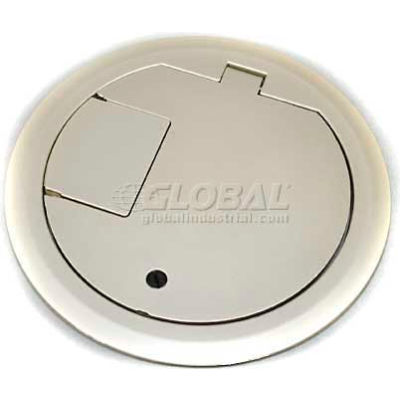 Wiremold CRFBBTCNKTR Floor Box CRFB Series Solid Cover Assembly Tamper Resistant, Nickel