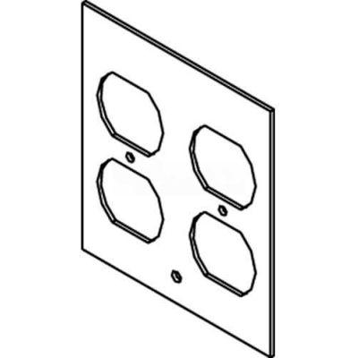 Wiremold Dgt-2dp Floor Box Af1&3 Top Plate, For 2 Duplex Devices - Pkg Qty 10