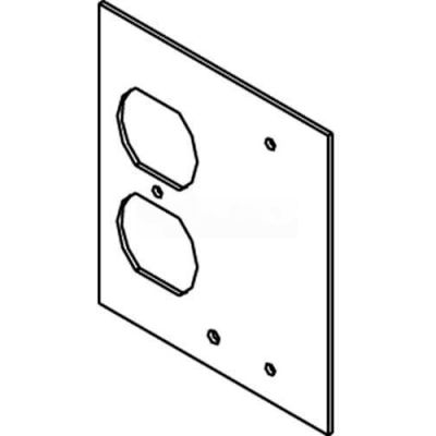 Wiremold Dgt-Dp/B Floor Box Af1&3 Top Plate, For 1 Duplex & 1 Blank - Pkg Qty 10