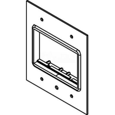 Wiremold Dgt-Rt Floor Box Ac Series Top Plate W/(1) Ort Lt Gray Bezel - Pkg Qty 10