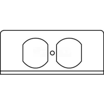 Wiremold Fifp-R Poke-Thru 1-Gang Duplex Recept. Plate - Pkg Qty 20