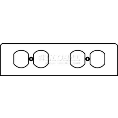Wiremold Fp2r Poke-Thru 2-Gang Plate W/2 Recept. Openings - Pkg Qty 10