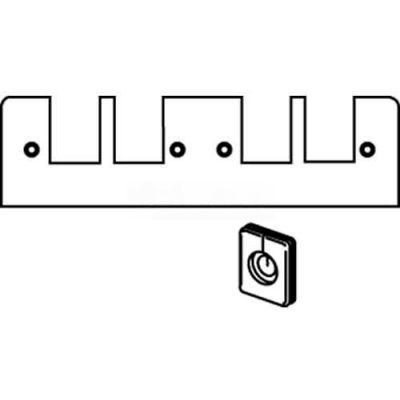 Wiremold Fp2t Poke-Thru 2-Gang Plate W/2 Communication Openings - Pkg Qty 10