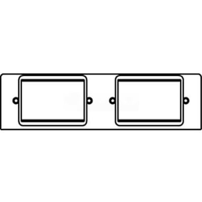 Wiremold FPACT-ACT Poke-Thru 2-Gang Plate W/(2)6A Mini Adapter Bezels