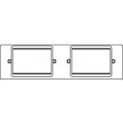 Wiremold Fpb-2rt Poke-Thru 2-Gang Plate W/(2) Mini Adapter Bezels Ortronics - Pkg Qty 20