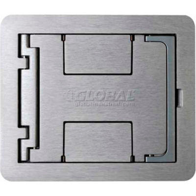 Wiremold Fpbtcgy Floor Box Floorport Flanged Cover Assembly W/Solid Lid, Gray - Pkg Qty 8