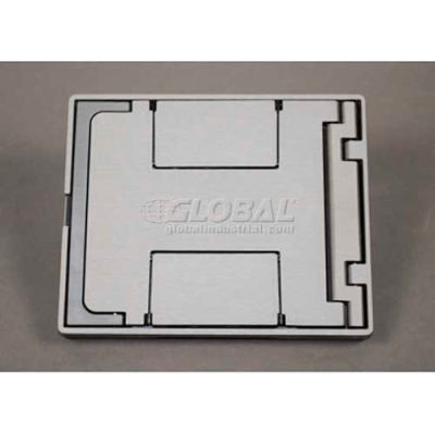 Wiremold Fpbtgy Floor Box Floorport Flangeless Cover Assembly, W/Solid Lid, Gray - Pkg Qty 8
