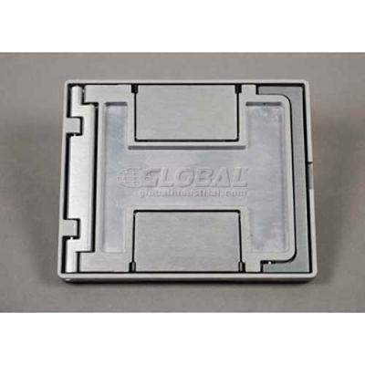Wiremold Fpctbz Floor Box Floorport Flangeless Cover Assembly, W/Carpet Insert, Bronze - Pkg Qty 8