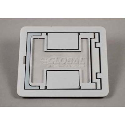 Wiremold Fpctcbk Floor Box Floorport Flanged Cover Assembly, W/Carpet Cutout, Black - Pkg Qty 8