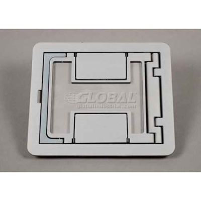 Wiremold Fpctcgy Floor Box Floorport Flanged Cover Assembly, W/Carpet Cutout, Gray - Pkg Qty 8