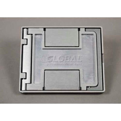 Wiremold FPCTNK Floor Box Floorport Flangeless Cover Assembly, W/Carpet Insert, Nickel - Pkg Qty 8